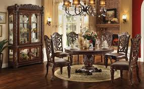 Round Dining Room Set For 4 by Acme Furniture Vendome 72 Inch Round Single Pedestal Dining Table