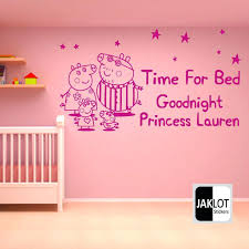 Stupefying Pig Bedroom Decor Time For Bed Personalised X Large Vinyl Nursery Wall Sticker