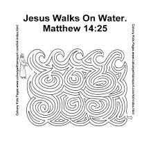 Jesus Walks On Water Maze This Will Help You Prepare Your Sunday School Lesson