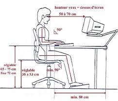 la bonne posture à l ordinateur et pour le travail de bureau