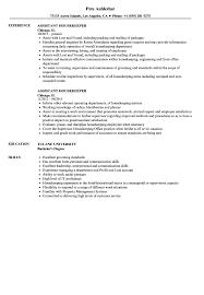 Resume Sample For Nanny Housekeeping Example At Skills