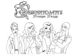 Coloring Pages Descendants Of Mal From 2