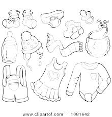 Winter Clothes Coloring Pages Page Clothing Preschool Sheets Coat P