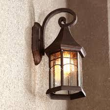 traditional house shaped metal fixture outdoor wall sconce lights