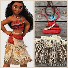 CK1213 Girls Classic Disney Princess Moana Movie Polynesia Cosplay