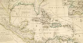 Map Of The West Indies 1740