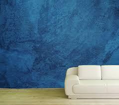 vlies tapete poster fototapete putz betonoptik wand blau
