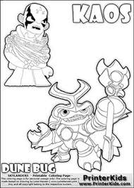 Skylanders Swap Force Coloring Page With KAOS The Villain And A