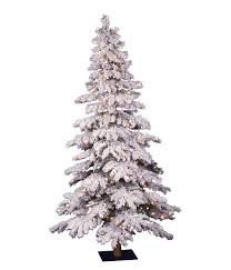 Vickerman Flocked Spruce Artificial Christmas Tree With 300 Clear Lights