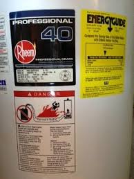 Tucson Water Heater Label