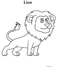 Lion Coloring Book Printable