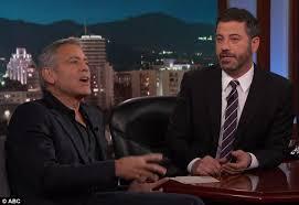 Hey Jimmy Kimmel I Did by George Clooney Pranks Jimmy Kimmel With Matt Damon Daily Mail Online