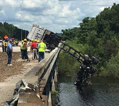 Truck Driver Rescued From River By Airboat After Crash That Shut ... Sthbound I75 At I280 Now Open After Semi Truck Accident Serious Wreck On South I285 Youtube Semitruck Closes For Hours Live Semitruck Crash In Manatee County Florida July 20 One Dead Semitrailer Falls Off Crushes Vehicle Below Closed 212 Ogemaw Herald Ocala Post Daniel Loople Dies After Mangled Metal Mess On Semi Rolls Over Northbound Arenac Ipdent Removed Partially Haing Overpass Minivan Dragged 16 Miles Arending Trailer Amid Heavy Death The Highway Driver Saved By Witnses Fiery Crash Abc 36 News