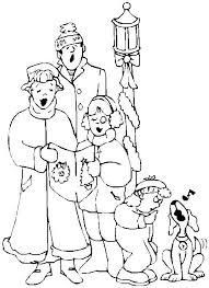 Printable Christmas Coloring Page Family Singing Carols Inside Carol Pages