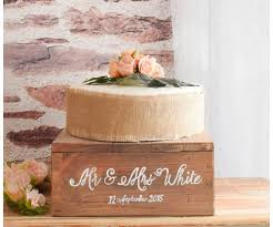 Rustic Wedding Cake Stand Hand Painted Homeware And Gifts The