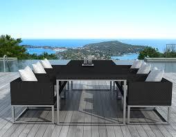 tables de jardin en resine salon de jardin design 1 table 6 fauteuils sur salon de jardin