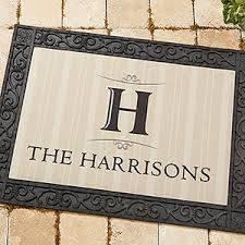 Personalized Elegant Monogram Doormats 18x27 For The Home