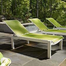 Stackable Outdoor Sling Chairs by Telescope Casual Leeward Sling Stackable Chaise Lounge With Wheels