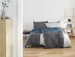 s oliver satinbettwäsche 135x200 80x80 baumwollsatin grau blau