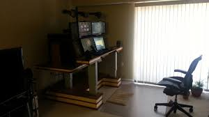 Dual Screen Standing Desk by The Official Desk Of 1337 Pwnage The Official Site Of 1337 Pwnage