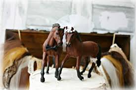 Horse Bride Groom Wedding Cake Topper Mr And Mrs Ivory