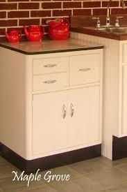 Vintage Metal Kitchen Cabinets by Walnut Wood Honey Glass Panel Door Retro Metal Kitchen Cabinets