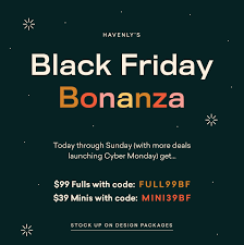 Havenly: Black Friday! $70 Off Fulls, Free Shipping, + More ...