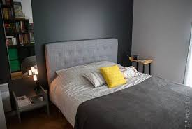 relooking chambre une chambre moderne en gris et jaune relooking paperblog