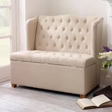 Attractive Ottoman Storage Bench Cream Antoinette Ottoman Bench