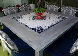 Acrylpro Ceramic Tile Adhesive Cleanup by Mosaic Dining Table With Built In Lazy Susan Hgtv