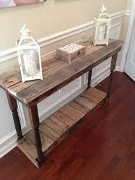 Turn Your Entry Way Into A Useful And Decorative Statement Simple Yet Functional N Rustic Foyer Table Reclaimed Repurposed By