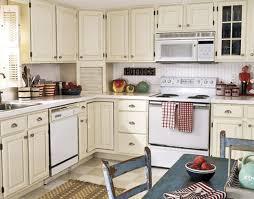 Kitchen White Wooden Cabinet And Tile Backsplash Also Countertops Unusual Details