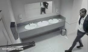 Bathroom Stall Prank Gif by Bathroom Archives Funny Gifs And Animated Gifs