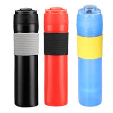 Buy French Press Travel Mug Portable Coffee Maker Drink Water Cup