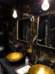badezimmer in schwarz und gold ein mix luxus stil und