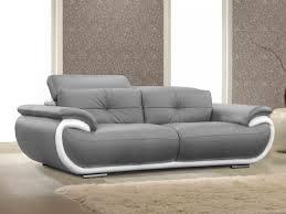 vente de canapé pas cher canapé smiley achat canapé 3 places en cuir smiley bicolore