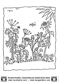 Pictures Garden Coloring Pages 92 With Additional For Kids Online