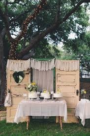 Rustic Vintage Wedding Cake Display For The Outdoors