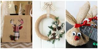Burlap Decor 14 Christmas Decorations Rustic