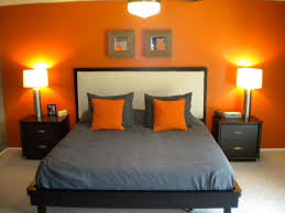 Cool Orange Grey Bedroom Interior Design Ideas