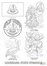 Louisiana State Symbols Coloring Page Free Printable Pages