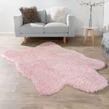 teppich wohnzimmer kunstfell flokati langflor pink