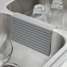 oxo silicone sink mat interdesign lineo silicone sink divider protector