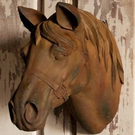 Barn Wood Estate Stone Horse Head