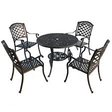 [Hot Item] 42′′ Cast Aluminum Outdoor Dining Table Set With High Back Arm  Chairs Outdoor Chairs Set Of 2 Black Cast Alinum Patio Ding Swivel Arm Chair New Elisabeth Cast Alinum Outdoor Patio 9pc Set 8ding Details About Oakland Living Victoria Aged Marumi In 2019 Armchair Cologne Set Gold Palm Tree Outdoor Chairs Theradmmycom Allinum Fniture A Guide Alinium Rst Brands Astoria Club With Lawn Garden Stools Bar Modway