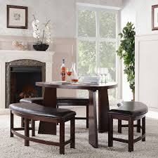 Wayfair Black Dining Room Sets by Triangular Dining Table With Bench Seating