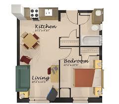 1 Bedroom Apartment Layout Interior Design