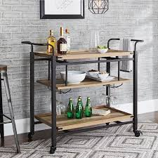Walmart Sauder Sofa Table by Better Homes And Gardens Crossmill Bar Cart Weathered Finish