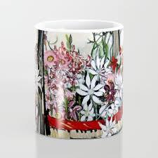 100 Flannel Flower Glass Basket Of S By Margaret Preston Coffee Mug