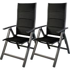 2 stück garten comfort klappstuhl aluminium gepolstert silber schwarz